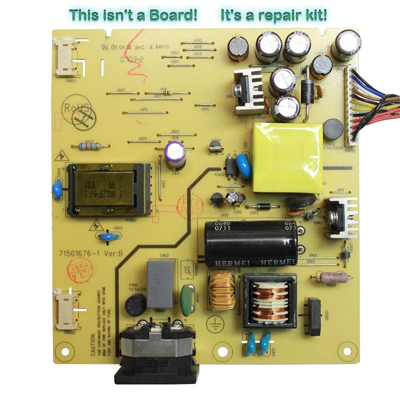 Repair Kit Capacitors Model: 470-5-22-1-7ca for Power Supply 715G1676-1 Ver:B P/N 1521LGR1P