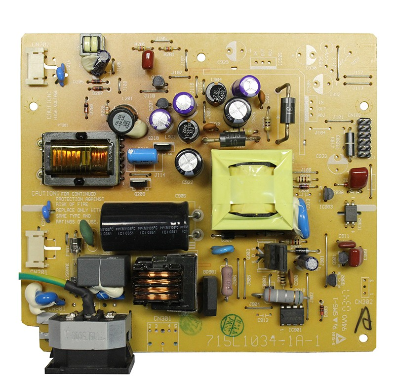 Power Board: 715L1034-1A-1 Rev:A P/N: 5216A1I2C