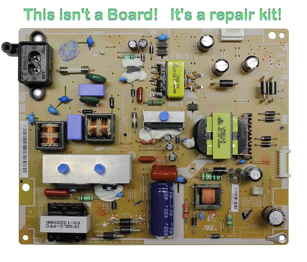 Repair Kit Capacitors Model: 10-3-1-ICS-4CA for Power Supply PSLF8600C04A P/N BN44-00497A