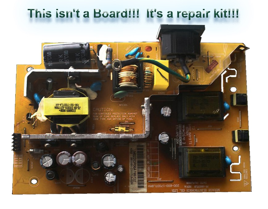 Repair Kit Capacitors Model: 1000-4-10-1-11CA for Power Supply PL-190DTLB P/N:  200-000170DTLBMH