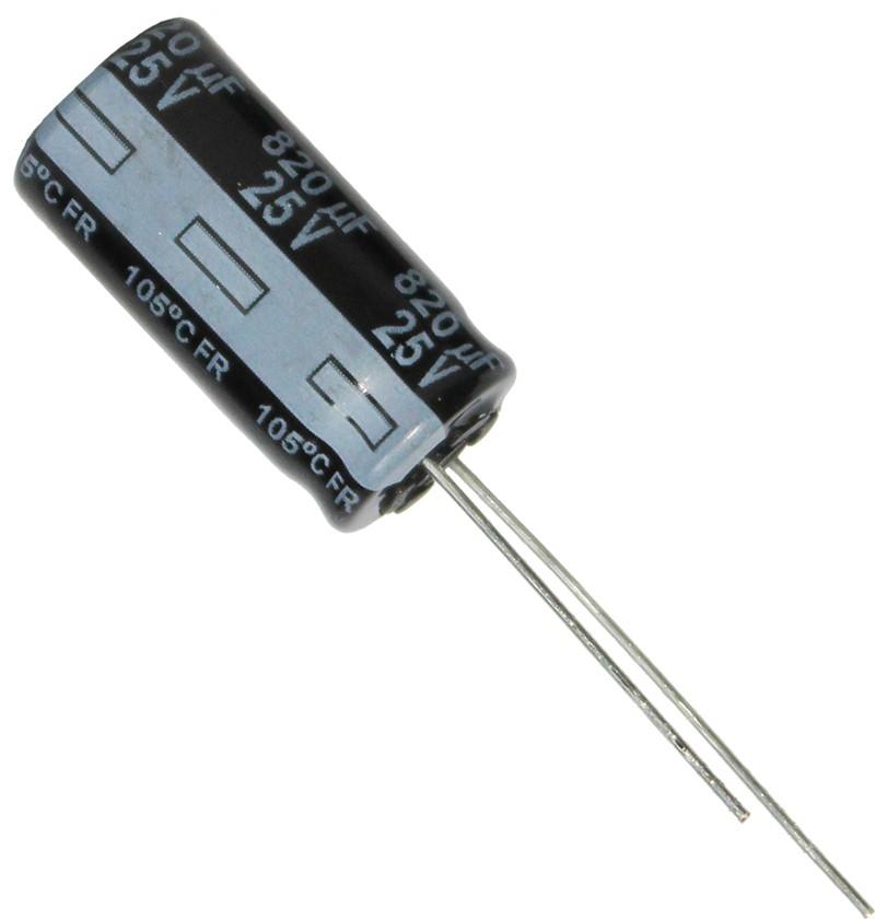 820uF 25V Ø10x20mm 105°C   EEU-FR1E821 Panasonic FR
