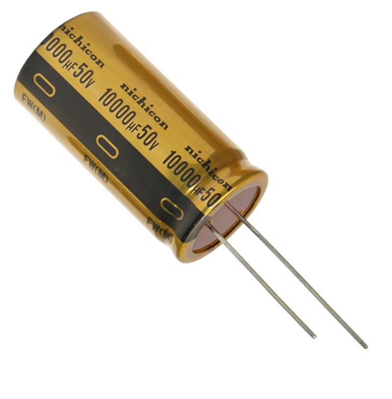 10 000uF 50V Ø25x50mm 85°C   UFW1H103MRD Nichicon Audio FW Series
