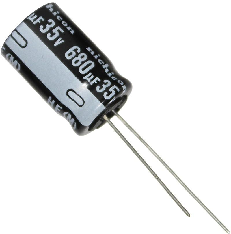 680uF 35V 105°C Ø12.5x20mm  UHE1V681MHD6 Nichicon HE