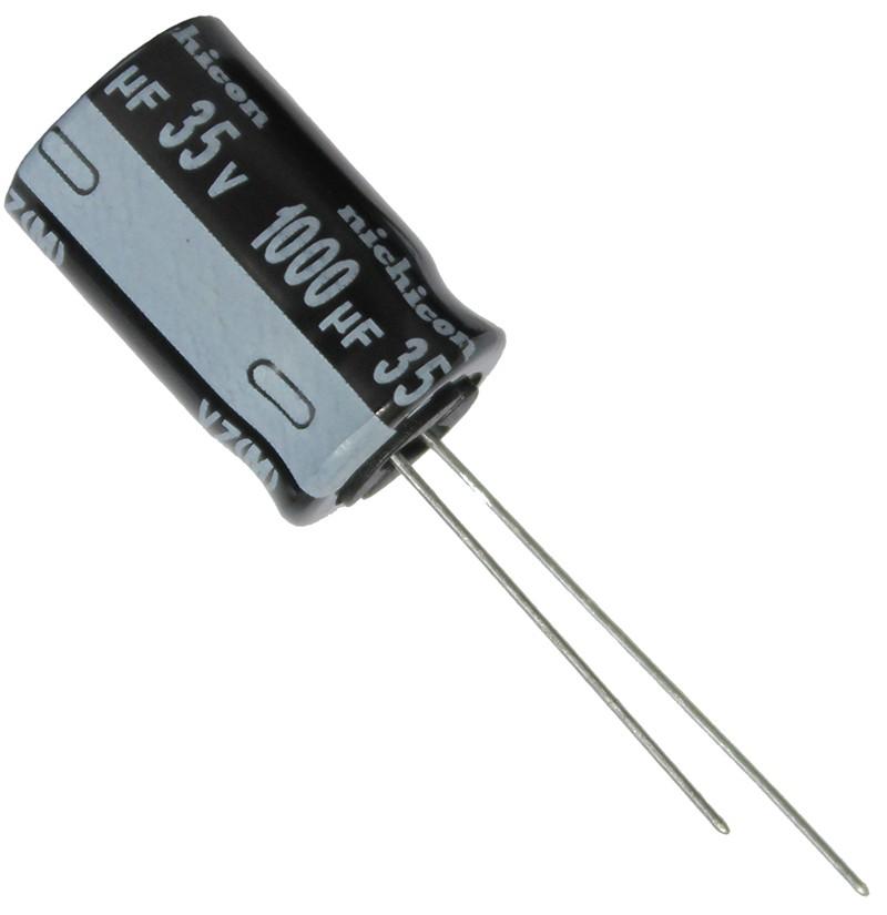 1000uF 35V 105°C Ø12.5x20mm    UVZ1V102MHD Nichicon VZ